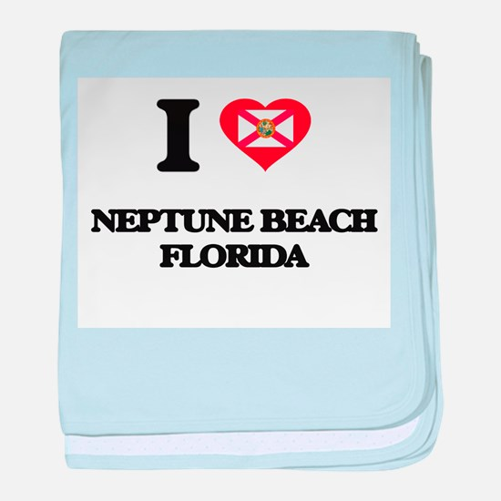 I love Neptune Beach Florida baby blanket