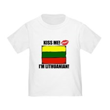 Kiss Me Im Lithuanian T-Shirt
