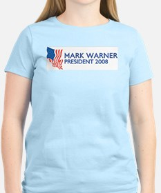 MARK WARNER for President T-Shirt