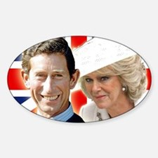 Cute Royal family Sticker (Oval)