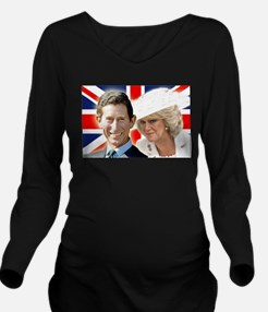 Cute Royal family Long Sleeve Maternity T-Shirt
