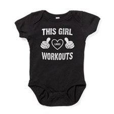 THIS GIRL LOVES WORKOUTS Baby Bodysuit