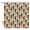 Retro Leaves Shower Curtain