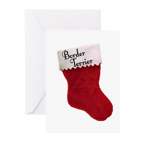 Border Terrier Stocking Greeting Cards (Pk of 10)