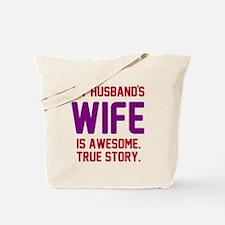 Husband's wife awesome Tote Bag