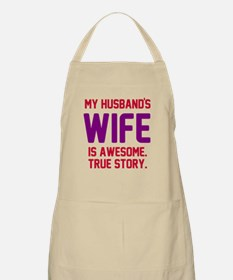 Husband's wife awesome Apron