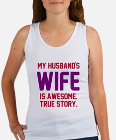 Husband's wife awesome Women's Tank Top