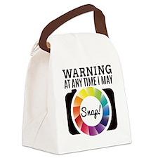 Warning At Any Time I May Shot Canvas Lunch Bag