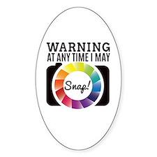 Warning At Any Time I May Shot Decal