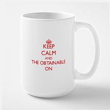 Keep Calm and The Obtainable ON Mugs