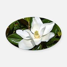 Magnolia Oval Car Magnet