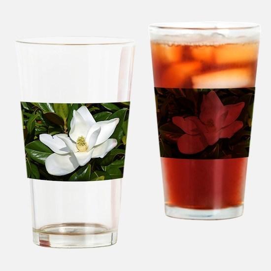 Magnolia Drinking Glass