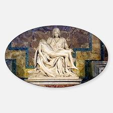 The Pietà  Sticker (Oval)