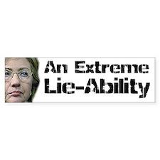 Lie Ability Bumper Bumper Bumper Sticker