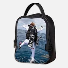 Scuba Diver Jump Neoprene Lunch Bag