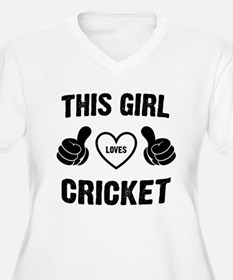 THIS GIRL LOVES CRICKET Plus Size T-Shirt