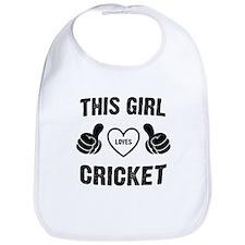 THIS GIRL LOVES CRICKET Bib