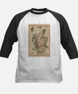 Vintage Map of Scotland (1814) Baseball Jersey