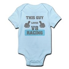 THIS GUY LOVES V8 RACING Body Suit