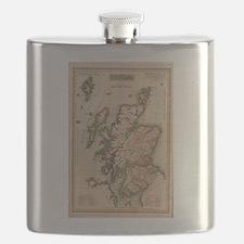 Vintage Map of Scotland (1814) Flask