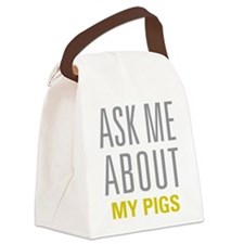 My Pigs Canvas Lunch Bag