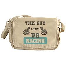 THIS GUY LOVES V8 RACING Messenger Bag