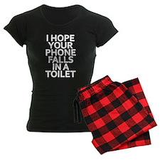 Phone in Toilet Pajamas