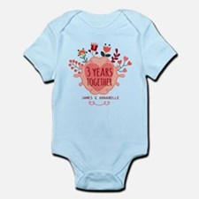 Personalized 3rd Anniversary Infant Bodysuit