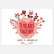 Personalized 3rd Anniversary 5x7 Flat Cards