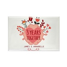 Personalized 3rd Anniversary Rectangle Magnet