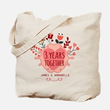 Personalized 3rd Anniversary Tote Bag