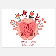 Personalized Gift for 2nd Anniversa 5x7 Flat Cards