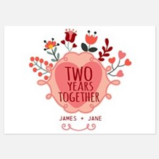 Personalized Gift for 2nd Anniversa Invitations