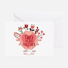 Personalized Gift for 2nd Anniversar Greeting Card