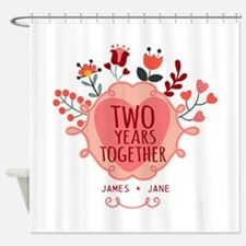 Personalized Gift for 2nd Anniversa Shower Curtain