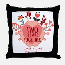 Personalized Gift for 2nd Anniversary Throw Pillow