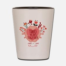 Personalized Gift for 2nd Anniversary Shot Glass