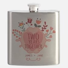 Personalized Gift for 2nd Anniversary Flask