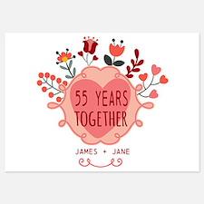Custom Year and Name Anniversary 5x7 Flat Cards