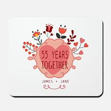 Custom Year and Name Anniversary Mousepad
