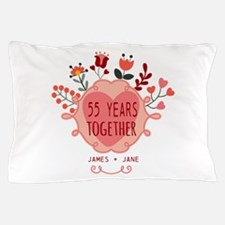 Custom Year and Name Anniversary Pillow Case