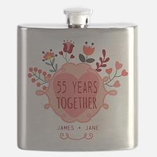Custom Year and Name Anniversary Flask