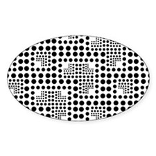 Crazy Dots black and white Decal