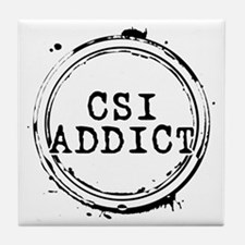 CSI Addict Stamp Tile Coaster