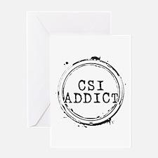 CSI Addict Stamp Greeting Card