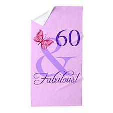 Fabulous 60th Birthday Beach Towel