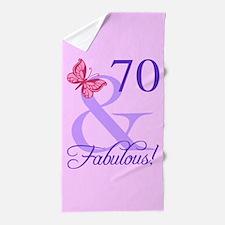 Fabulous 70th Birthday Beach Towel