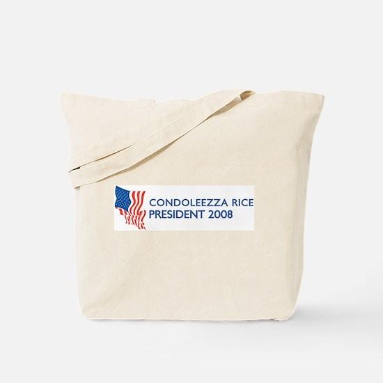 CONDOLEEZZA RICE for Presiden Tote Bag