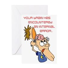Brain Error #2 Greeting Card