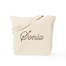 Gold Sonia Tote Bag